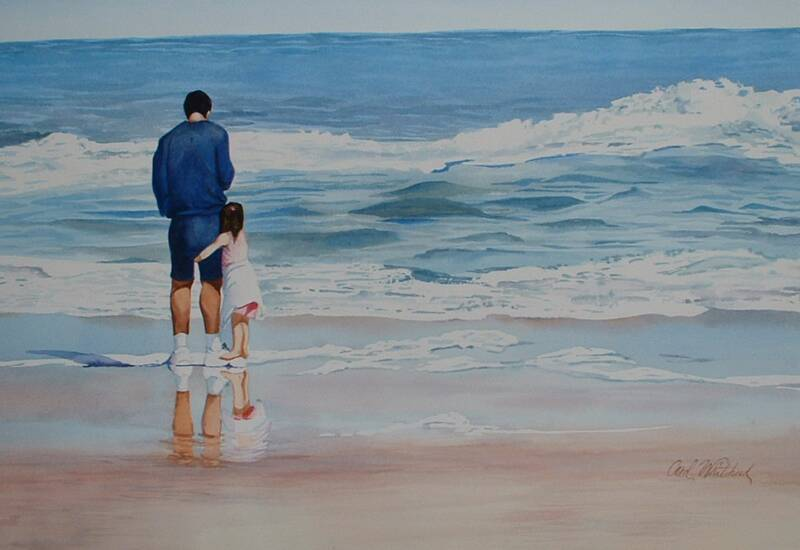 TenzinYangchen-This picture represent the opening setting of the novel where Young Ju and her Father were at the beach. As Young Ju is afraid of waves he taught her how to be a brave girl and not to be afraid of waves.
